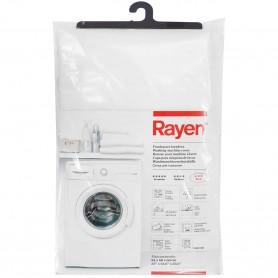 Funda Lavadoras Ajustable Rayen, es una funda para lavadoras de tamaño 84x60x60 cm. Funda plástico color blanco.