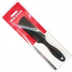 Peine de vaciado o peine cortapelo, es un peine que lleva cuchillas para cortar el pelo. Peine especial para peluquerías.