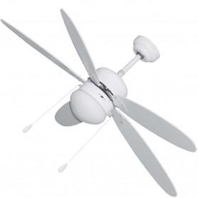 Ventilador Techo Blanco con Luz 5 Aspas VivaHogar
