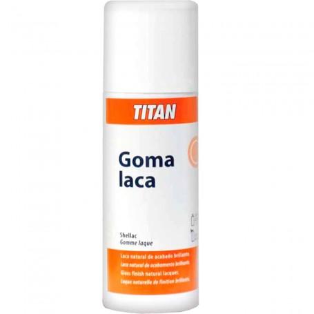 Goma Laca en Spray Titan Ars, imprimación y barniz duro brillante para madera o yeso.