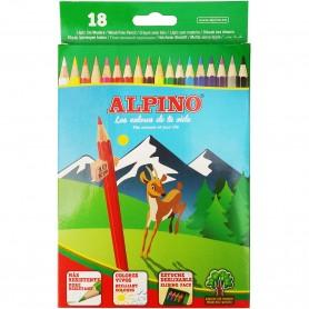 Lápices sin Madera Colores Alpino 18 colores