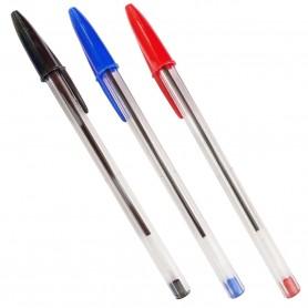 Bolígrafos BIC Clásicos o Boli BIC: Bic Rojo, BIC Azul y BIC Negro.