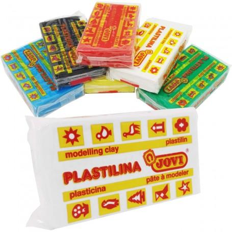 Plastilina Jovi, bloque de plastilina de 50 gramos, para modelado y manualidades artísticas infantiles.