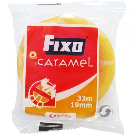 FIXO Caramel 19 mm de ancho x 33 metros de largo Cinta Celo Adhesiva Escolar Oficina.