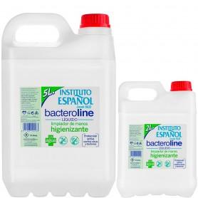 Bacteroline 70% Alcohol Gel Higienizante Manos 2 y 5 litros Instituto Español