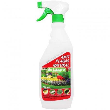Anti Plagas Natural de Lazaro para Plantas, Líquido insecticida en pistola formulado a base de ingredientes naturales.