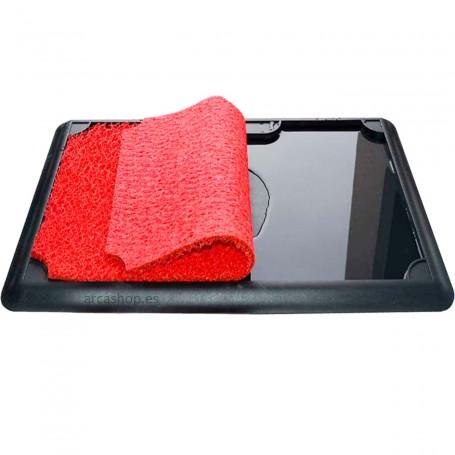 Alfombra Felpudo Desinfectante para limpieza y desinfección de calzado.