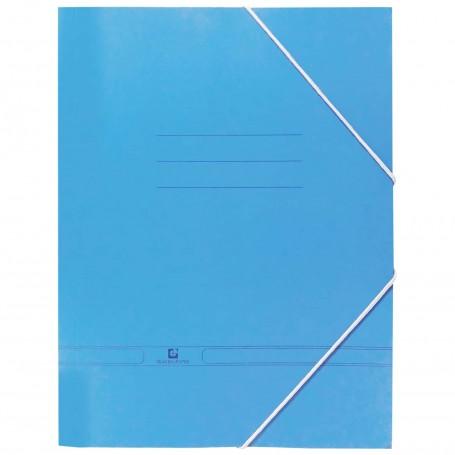 Carpeta Azul A4 con Solapas y Gomillas. Carpeta azul antigua.
