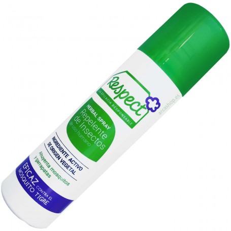 Repelente Mosquitos Tigre y Garrapatas Herbal Spray Respect