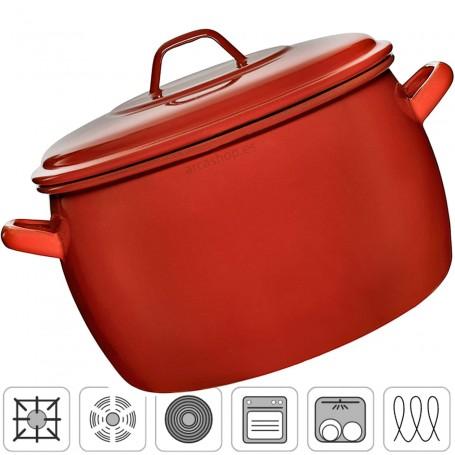 Olla Esmaltada Abombada La Estrella. Olla para cocinar, hervir, cocer, freír y asar. Olla antigua grande, mediana y pequeña.