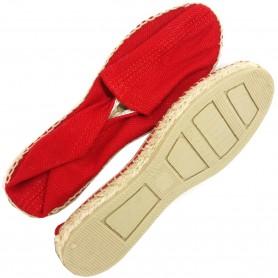 Zapatillas de Esparto Clásica, suela de esparto y caucho.