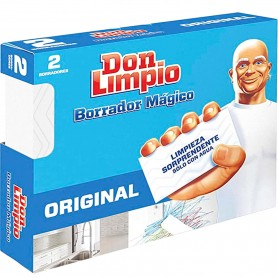 Borrador Mágico Don Limpio Original limpieza Hogar y Jardín. Don Limpio borrador mágico es una esponja quitamanchas.