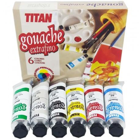 Gouache Titan Arts Extra Fino, estuche regalo Bellas Artes.