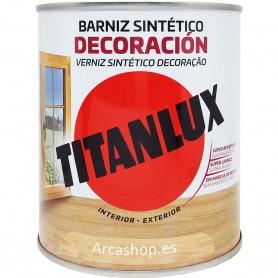 Barniz Tinte Sintético Titanlux  Madera: Incoloro, Roble, Caoba, Nogal, Wengué, Teca, Castaño, Roble, Cerezo, Palisandro.