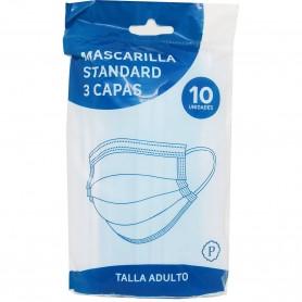 Mascarilla 3 capas TNT Higiénica.10 mascarillas Quirúrgicas.