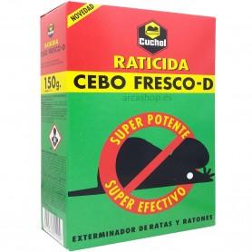 Raticida Potente Cuchol. Cebo Fresco -D Exterminador de Ratones y Ratas (Reemplaza a Raticida Forte Cuchol Plus)
