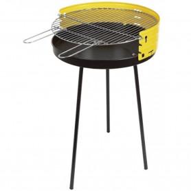 Barbacoa Sauvic. BBQ de 50 cm ø Redonda para Carbón vegetal. Barbacoa Camping, playa y jardín.