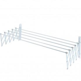 Tendedero Extensible Varillas Blanco Sauvic 80 cm, 100 cm y 120 cm. Tendedero ropa ventanas.
