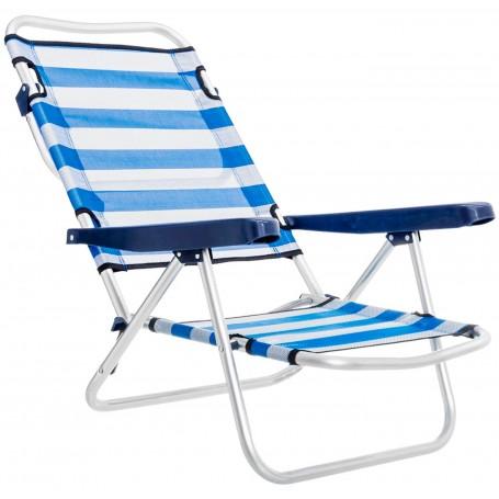 Hamaca Silla Tumbona Baja Plegable Aluminio Playa y Camping Monty Beach