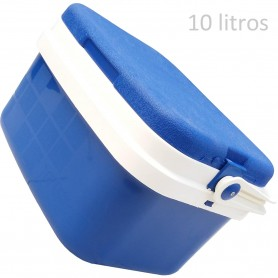 Nevera Azul Camping y Playa, neveras de 10, 16 y 29 litros. Para conservación del frío para alimentos y bebidas. Marca Campos.