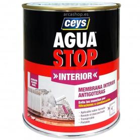 Agua Stop Interior Pintura Imprimación Impermeabilizante Antihumedad, blanco mate.