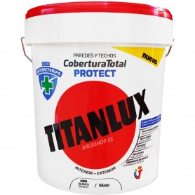 Titanlux Antibacterias Cobertura Total Protec Eco: Pintura blanca interior y exterior contra bacterias, moho, hongos y humedad