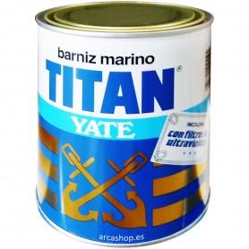 Barniz Incoloro Titan Yate. Barniz para ambientes marinos, embarcaciones, barcos y náutica, con filtros ultravioletas.