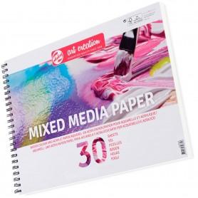 Bloc de papel para Técnicas Mixtas 250 grs (Acuarela, óleo, mixtas y Acrílico) Mix Media Talens Art Creation