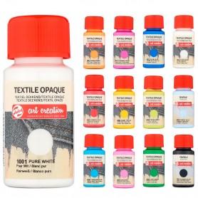 Pintura Textil para pintar Creatividades y Manualidades sobre telas Talens Art Creation, Carta colores.