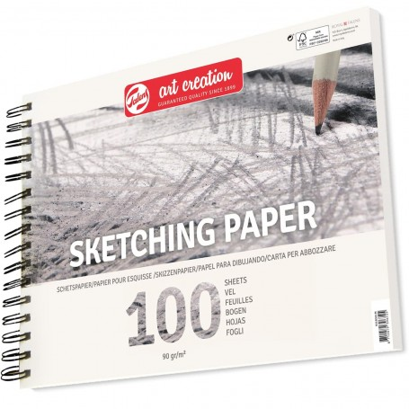 Bloc de papel para Técnicas de dibujo, esbozo o con grafito o carbón. Bloc para Academias BBAA o talleres de dibujo y pintura.