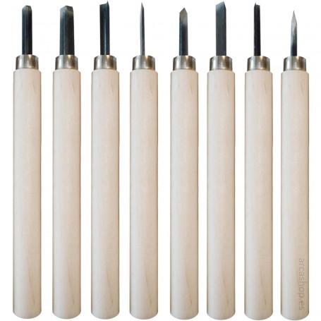 Gubias BBAA para técnicas de grabado en relieve: linóleo (Linograbado) y xilografía.