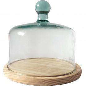Quesera Tradicional con urna de Cristal 24cm