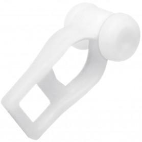 Corredera de plástico con ruedas  para rieles de aluminio, correderas plástico blanco.