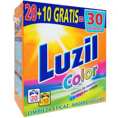 Luzil, Detergente Polvo para ropa Color, Lavadora.