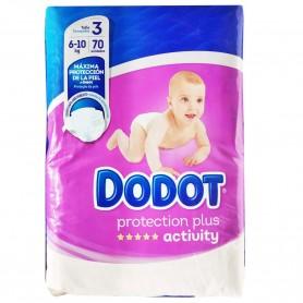 Dodot activity talla 3: Pañales DODOT, Talla 3,  de 6 a 10 kg. Pañales Bebé Culito y piel no irritada, seco y piel cuidada.