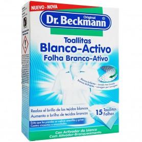 Toallitas blanco-activo de Dr. Beckmann, toallitas blanqueantes para ropa blanca.