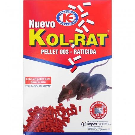 Raticida, rodenticida en pellet Ratas y Ratones, Kol-Rat.
