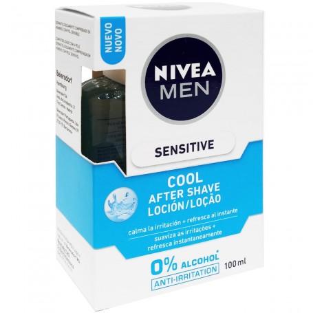 After Shave Loción para el afeitado sin alcohol etílico, Nivea Men.