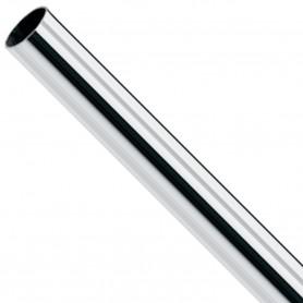 Barra Metal Niquelada Ø12 mm para cortinas y armarios