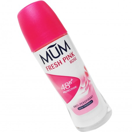 Desodorante MUM, Fresh Pink Rose Roll-on.