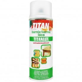 Barniz Laca Satinada para Madera en Spray Titanlux