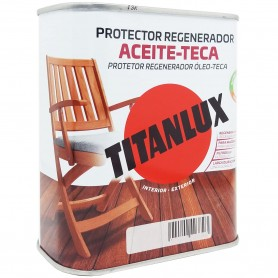 Protector Regenerador Aceite Teca Incoloro Titanlux, 750 ml.