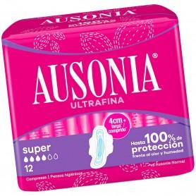 Compresas Ausonia con Alas Ultrafina Super.