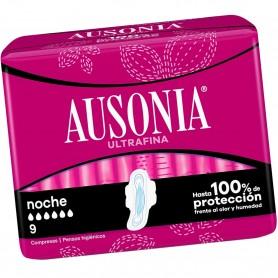 Compresas Ausonia Noche Ultrafina Superplus con alas.