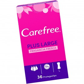Protegeslips Carefree Plus Large Fragancia Fresca.