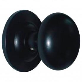 Pomo Negro Liso para puertas de exterior PP2 Micel 11092