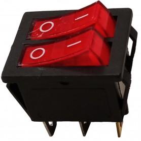 Doble Interruptor Luminoso 16A/250V , Recambio de componentes electrónicos.