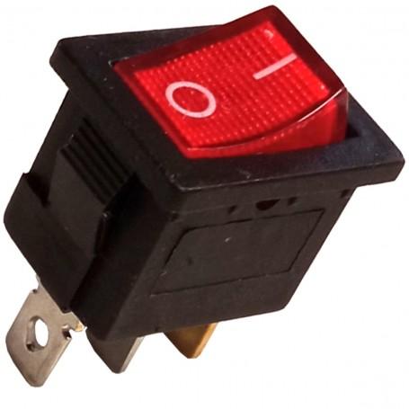 Interruptor Luminoso Sencillo Ancho (Unipolar) 10A / 250V.