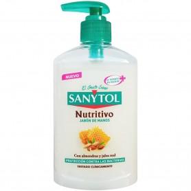 Gel de manos Sanytol, con almendras y jalea real, protección contra las bacterias.