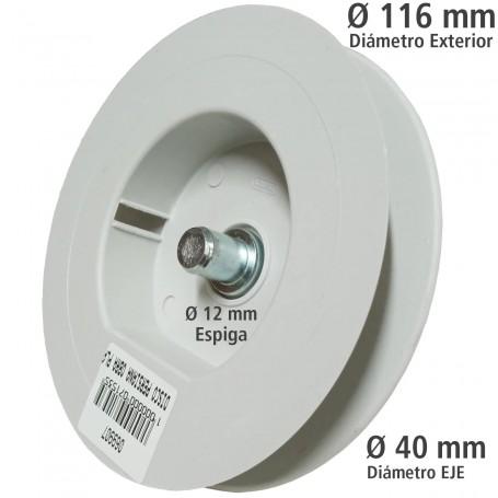 Disco PVC negro persiana mini con espiga. Comprar accesorios para persianas ø 116 mm